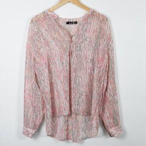 a.n.a. Pink & Grey Long Sleeve Tunic